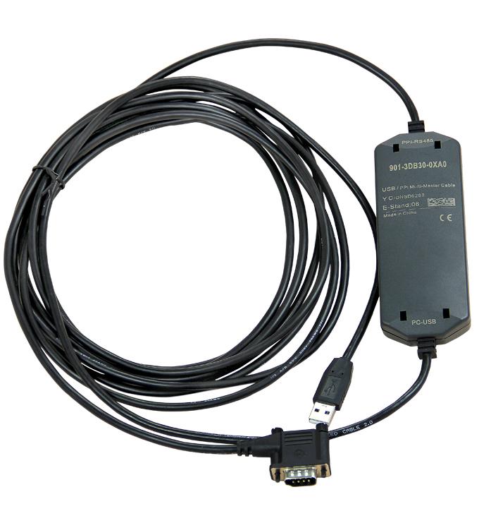 国产兼容西门子S7-200/300系列PLC,西门子PLC编程电缆型号为:6ES7 901-3DB30-0XA0